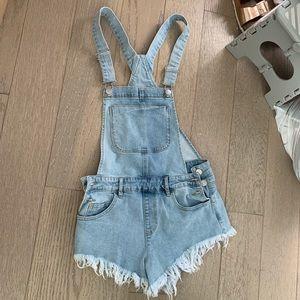 Forever 21 overall shorts denim s